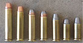 A variety of .38 and .357 loads